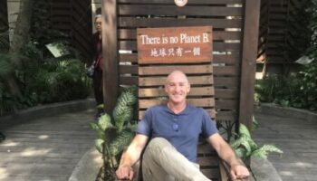 Mike on a recent visit to Taipei